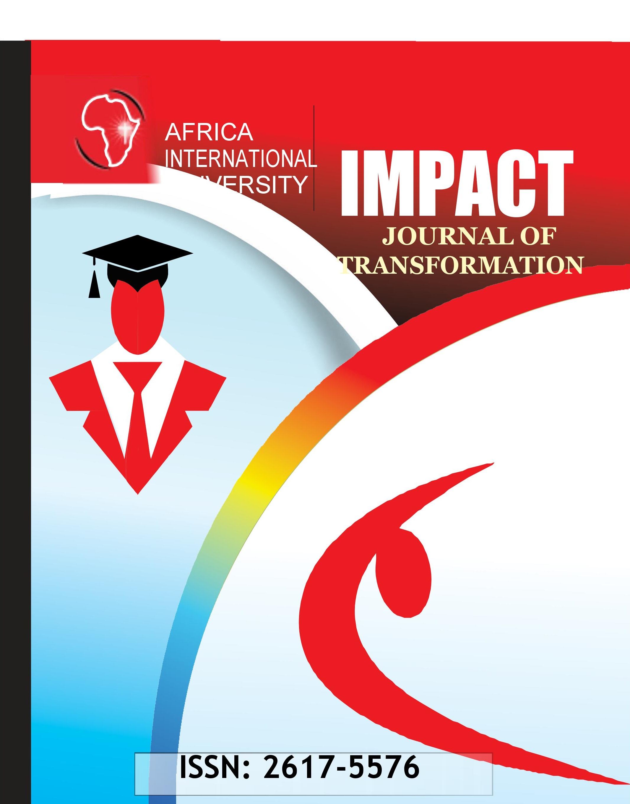 View Vol. 3 No. 1 (2020): Impact: Journal of Transformation